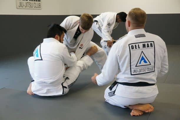 adult students learn jiu-jitsu basics