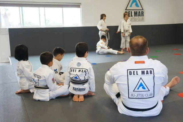 kids in jiu-jitsu partcipating in fun drills